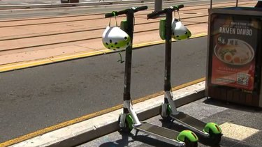 Lime scooters on the Gold Coast. Photo: Seven News