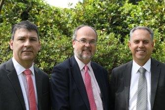 AVL's COO Todd Richardson, Mines and Petroleum Minister Bill Johnston and AVL managing director Vincent Algar.