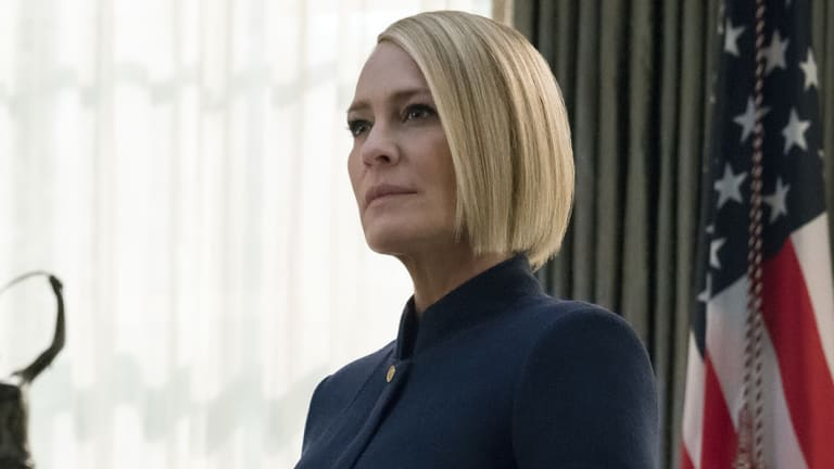 Robin Wright in a scene from the final season of House Of Cards.