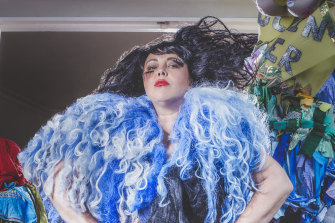 """Cabaret performer Yana Alana (aka Sarah Ward) who performs the bum puppetry """"Scat Morrison"""" act in her Midsumma Show F--- Fabulous at the Arts Centre Melbourne."""