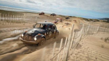 British beaches might not be as spectacular as ours, but they're still a lot of fun for dune racing.