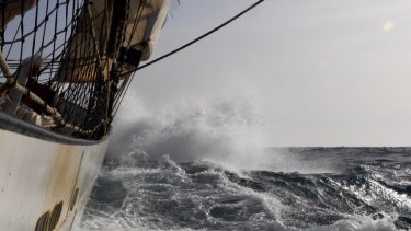 The east-west Atlantic crossing is notoriously rough.