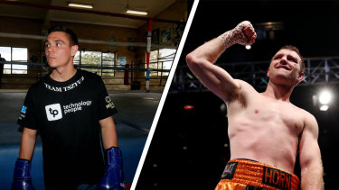 Tim Tszyu (left) and Jeff Horn (right) are locked in for an all-Australian bout in Queensland next month.