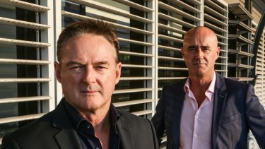 Mark (left) and Carl Fennessy, joint chief executives of Endemol Shine Australia.