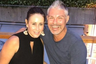 Justin Bull with wife Justine Kendall.