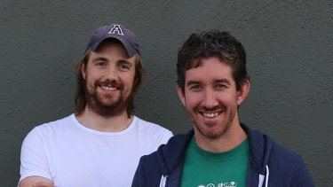 Atlassian co-founders Scott Farquhar and Mike Cannon-Brookes.