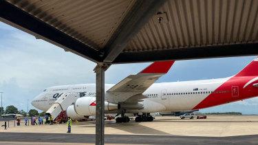Qantas flights will run repatriation flights for Australians to quarantine in the Northern Territory.