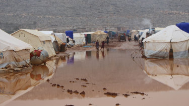 December floods in Idlib, north-west Syria.