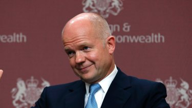 William Hague as foreign secretary in 2013.