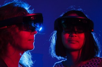 Microsoft's HoloLens headsets have been pointed to as a major step forward for wearable AR devices.