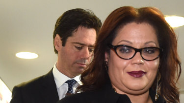 Tanya Hosch has won the respect of the AFL Commission and Gillon McLachlan.