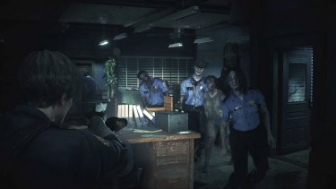 RE2 ditches the original's clunky controls and RE7's first-person perspective, opting for the cinematic action of an over-the-shoulder view.