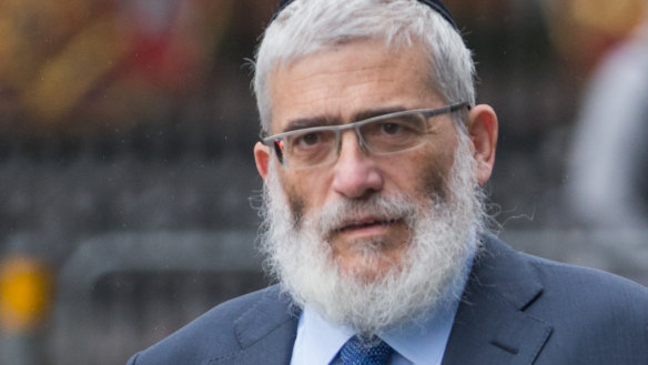 Joe Gutnick appearing at the Federal Court in Melbourne in 2017.