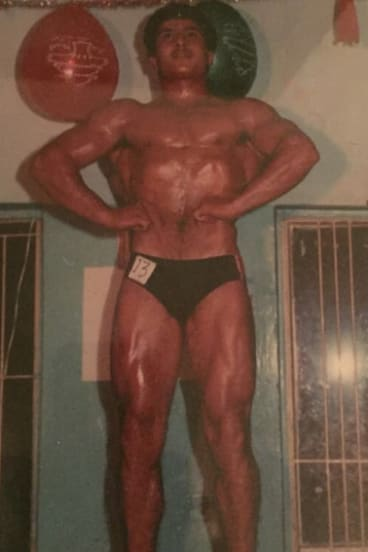 Body of work: Milad Nabbout when he won the Mr Lebanon title.