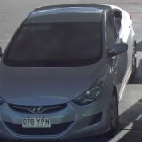 The vehicle of interest in a homicide in Macgregor in Brisbane's south is a stolen silver 2013 Hyundai Elantra hatchback.