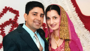 Parwinder Kaur (right) died of severe burns in 2013. Her husband (left) is accused of her murder.