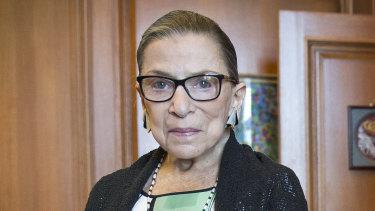 Justice Ruth Bader Ginsburg in 2014.