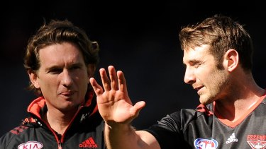 James Hird and Jobe Watson will take part in a weekly podcast.