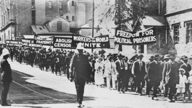 Red Flag Riots in Brisbane in March 1919 between pro-British and pro-Russian protesters.