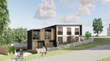 An artist's impression of a proposed boarding house in Allambie Heights.