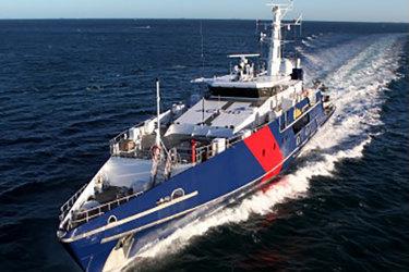 An Austal Cape Class patrol boat.