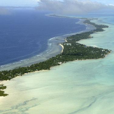 Threatened lives: Tarawa Atoll in Kiribati is in immediate danger from climate change.