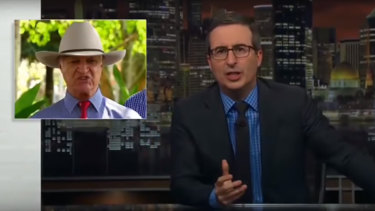 """John Oliver told his late night audience that Katter is a """"truly unpleasant human being""""."""