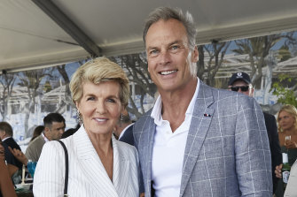 Julie Bishop and partner David Panton.