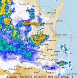 Storms on the radar for the Sunshine Coast.
