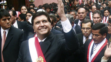Former Peruvian president Alan García pictured in July, 2006.