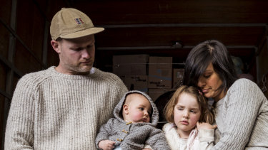 Dani Venn, with husband Chris Burgess and their children, had $250,000 stolen.