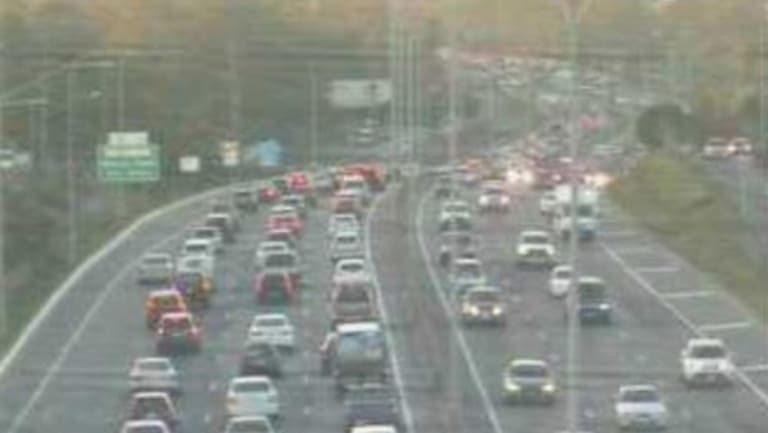 Heavy congestion on both sides of the M1 in Logan at 5.30pm.