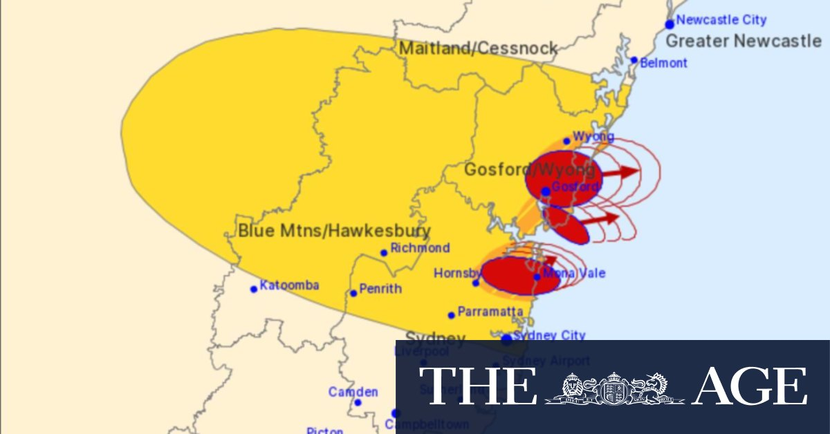 Sydney storms: Two-centimetre hail recorded as storms lash Sydney's north, Central Coast