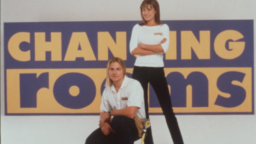 Original Changing Rooms host Suzie Wilks and handyman Mark Vegners in 1998.