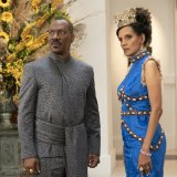 Eddie Murphy and Shari Headley in a scene from Coming 2 America.
