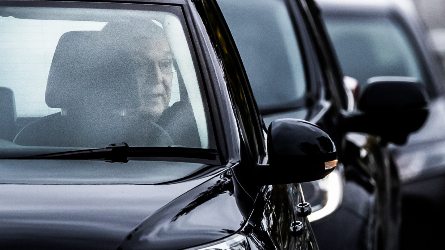 Cardinal Pell travelled in a four-car convoy upon being released from Barwon Prison on Tuesday.