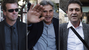 Andre Turner, Francesco Polimeni and Marcello Casella leave the District Court last year