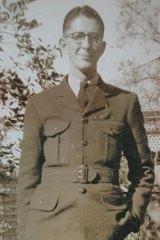 Ronald Lee in uniform.