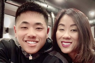 "Thomas ""Tommy"" Tran and his mother Amy."