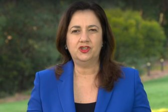 """Queensland Premier Annastacia Palaszczuk says she is """"one"""" with the New South Wales Premier on the idea of vaccine passports."""