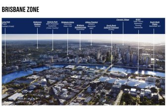 How Brisbane might look when it hosts the 2032 Olympic Games.