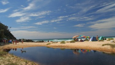 Armands Beach near Bermagui is the only legal clothing-optional beach between Nowra and the Victorian border.