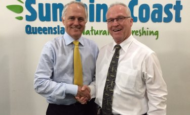 Former prime minister Malcolm Turnbull in 2015 backed the plan to bring Australia's newest fibre optic cable into the Sunshine Coast.