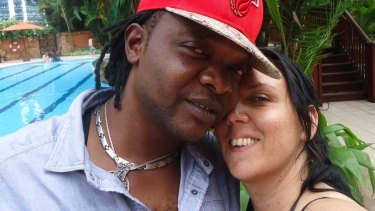 Jennifer Downes (right) with partner Henri Lusaka John, who has been charged with her murder.