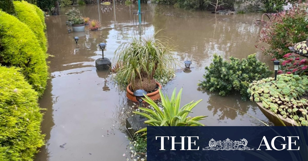 One river still rising as SES work to stop homes flooding on Great Ocean Road – The Age