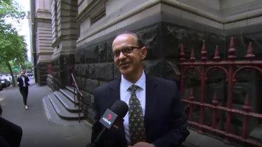 Zlate Cvetanovski outside the Court of Appeal on Friday.