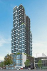 Artist's impression of the proposed apartment tower on Adelaide Terrace.