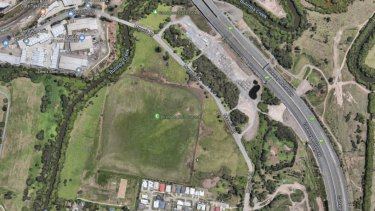 The Brisbane Polo Grounds site in Tingalpa.  The proposed development runs along Murarrie Road.
