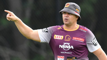 All in the details: Broncos coach Anthony Seibold likes to use technology and data as part of his coaching style.