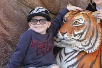 Max can't wait to fulfil his dream to see tigers at Dreamworld clearly.